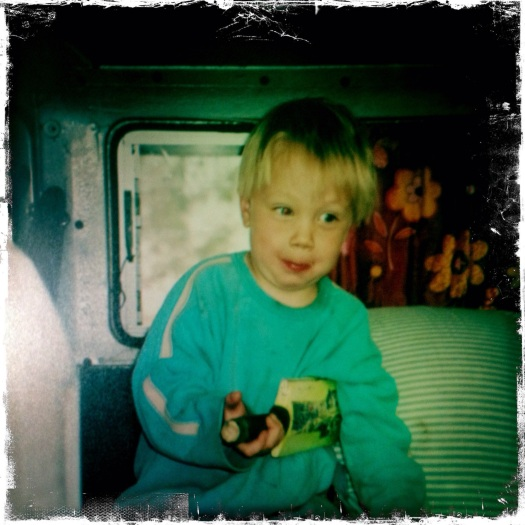 Jasper as a three year old urchin in our first Kombi